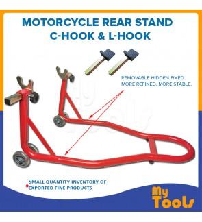 Mytools Motorcycle Rear Wheel Paddock Stand Universal Complete C-Hook & L-Hook