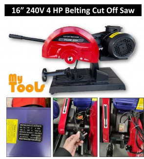 "Mytools 16"" 400mm 4HP 3kW Belting Cut Off Machine / Chop Saw / Cut-Off Cutting"