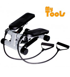 Stepper Gym & Fitness Exercise Step Stepping Machine + 2 Pcs Resistance Band