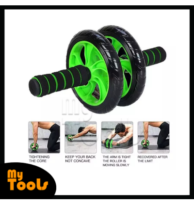 2 Wheels Ab Roller Abdominal Muscle AB Fitness Dual Wheel Strength Gym Home Fitness Exercise Trainin