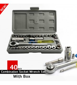 DIY 40pcs Combination Socket Wrench Set