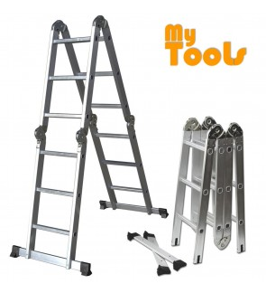 Mytools 12 Step 12Feet Multipurpose Aluminium Ladder (Heavy Duty)