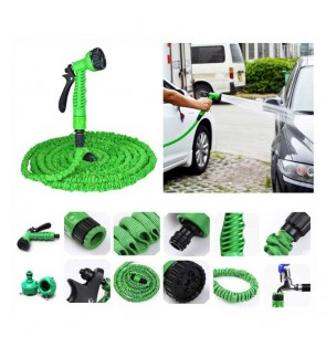 Deluxe Expandable Flexible Garden Water Hose 50 / 75 / 100 Feet Green