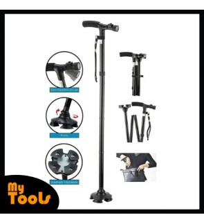 Ultimate Magic Cane Adjustable Heights With LED And Extra Big Base