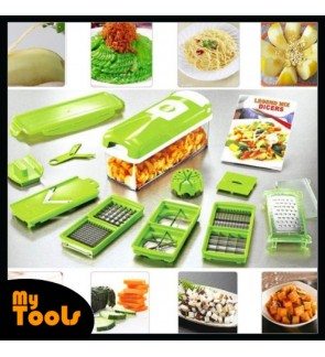 Easy to use 12pcs Practical Vegetable ABS Chopper Nicer Cutter Slicer Set
