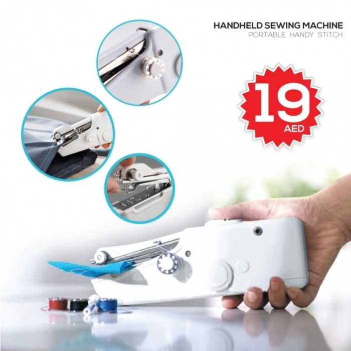 Portable Cordless Electric Sewing Machine Handheld Handy Stitch Impressive Handy Stitch Portable Sewing Machine