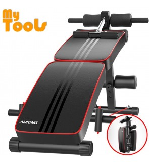 Adking Gym Foldable Advanced Multi-Function Fitness Gym Sit Up Bench with Exercise Rope and Spring P