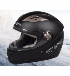 YongFu Full Face RAM Solid Helmet (Matt Black)  FOC: NECK SCARF