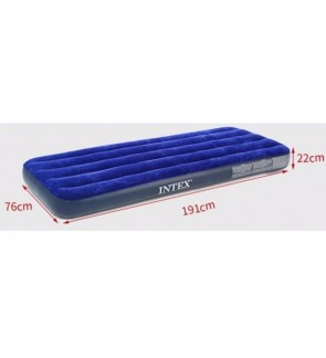 Intex Inflatable Flocked Air Bed Mattress - Single (76*191*22)
