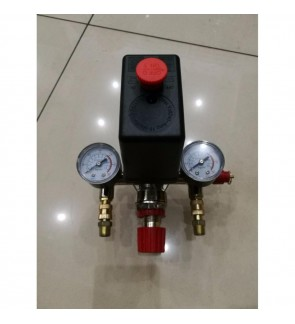 Air Compressor Pressure Switch + Regulator + Valve Gauge Set