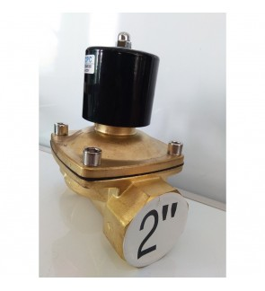 AC 220V 2'' Brass Electric Solenoid Valve Water Air Fuels 2W-500-50