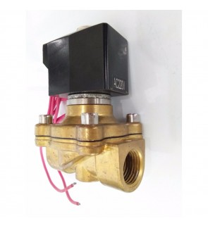 AC 220V 3/4'' Brass Electric Solenoid Valve Water Air Fuels Black