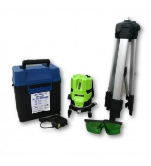 Laser Leveler Self Leveling 3 Line 4 Point 2V1H Green Laser Level Measure