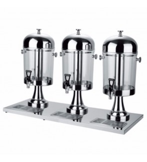 24L Stainless Steel Three Bowl Juice Dispenser