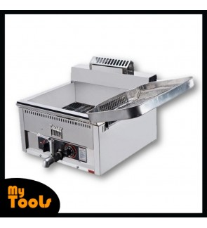 Himitzu 17L Stainless Steel c/w Basket Gas Deep Fryer