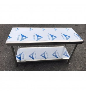 Stainless steel work table 1500x600x820mm