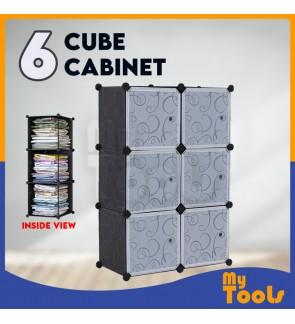 Cabinet 6 Cube Cubes Black DIY Wardrobe Black Stripes