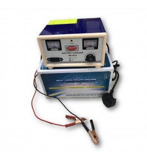 Himitzu 6V 12V 10A Lead Acid Car Battery Charger with Reverse Connection and Short Circuit Protectio