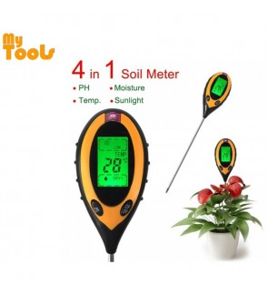 4in1 Garden Soil Tester Moisture Thermometer Sunlight Ph Meter Temperature