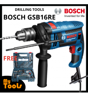 "Bosch GSB16RE/ GSB 16RE 701W 13mm (1/2"") Impact Drill C/W Full Accessories Set"