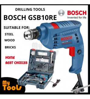 Bosch GSB10RE 500W 10mm Impact Drill C/W 100 pcs Accessories