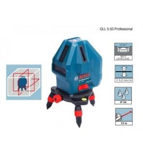 Bosch GLL5-50X 4V 1H 1P 15m Range Line Laser Leveler