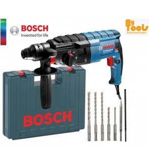 Bosch GBH2-24DRE 790W 24mm 3 Modes Rotary Hammer FREE 5 SDS Plus Drill Bits & 1 SDS Chisel