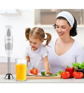 HG 2 in 1 Mini Hand Blender Mixer Stainless Steel Chopper Juicer