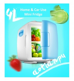 240V AV / 12V DC 4L Mini Portable Cooler & Warmer Fridge + Refrigerator ( Blue )