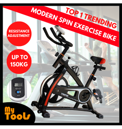Mytools Indoor Spin Cycle Exercise Bike Gym Fitness Cycling Bike + 3 Months Warranty (Drive Belt) Local Seller