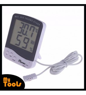 LCD Digital Thermometer Hygrometer Temperature Humidity Meter Clock
