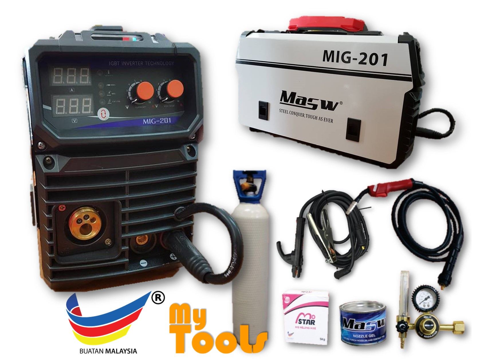 Masw MIG201S MIG, TIG & ARC 4 in 1 Welding Set (Made In Malaysia)