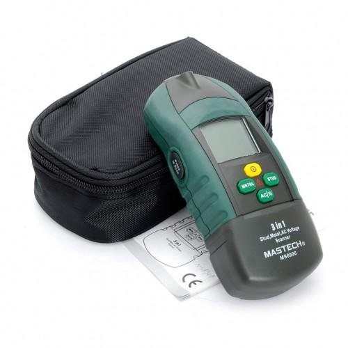 Mastech MS6906 3 in 1 Multi-functional Scanner Stud Metal Detector AC Voltage Meter Wood Thickness T