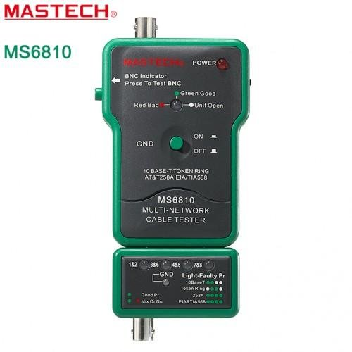 Mastech MS6810 Multi Network Cable Tester Meter RJ45 BNC
