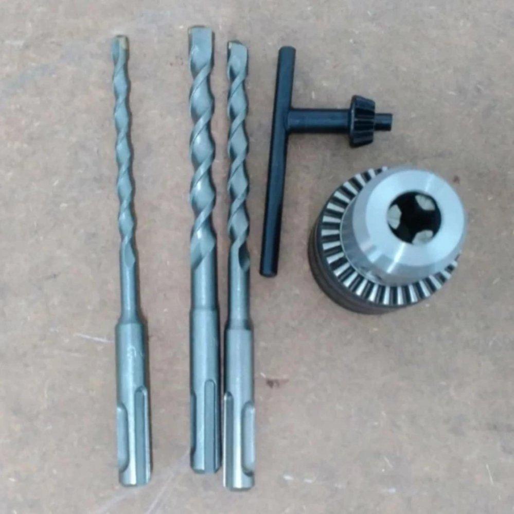 Lever ZIA 2-24SRE Rotary Hammer c/w 3 unit Drill Bit & 13mm Drill Chuck