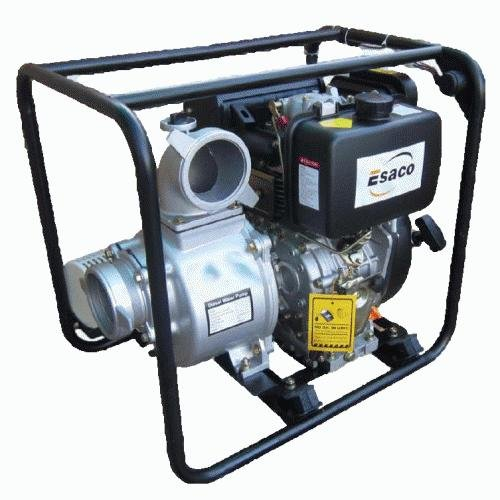 "Esaco 10HP Key Start Diesel Engine c/w 4"" Water Pump"