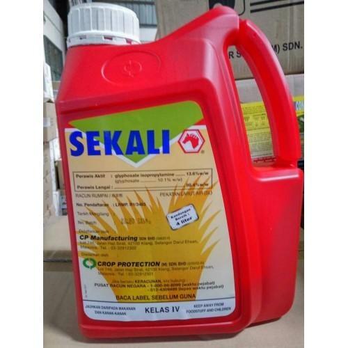 4 Liter Racun Sekali Glyphosate 13.6% Class 4 Racun Rumpai/Rumput
