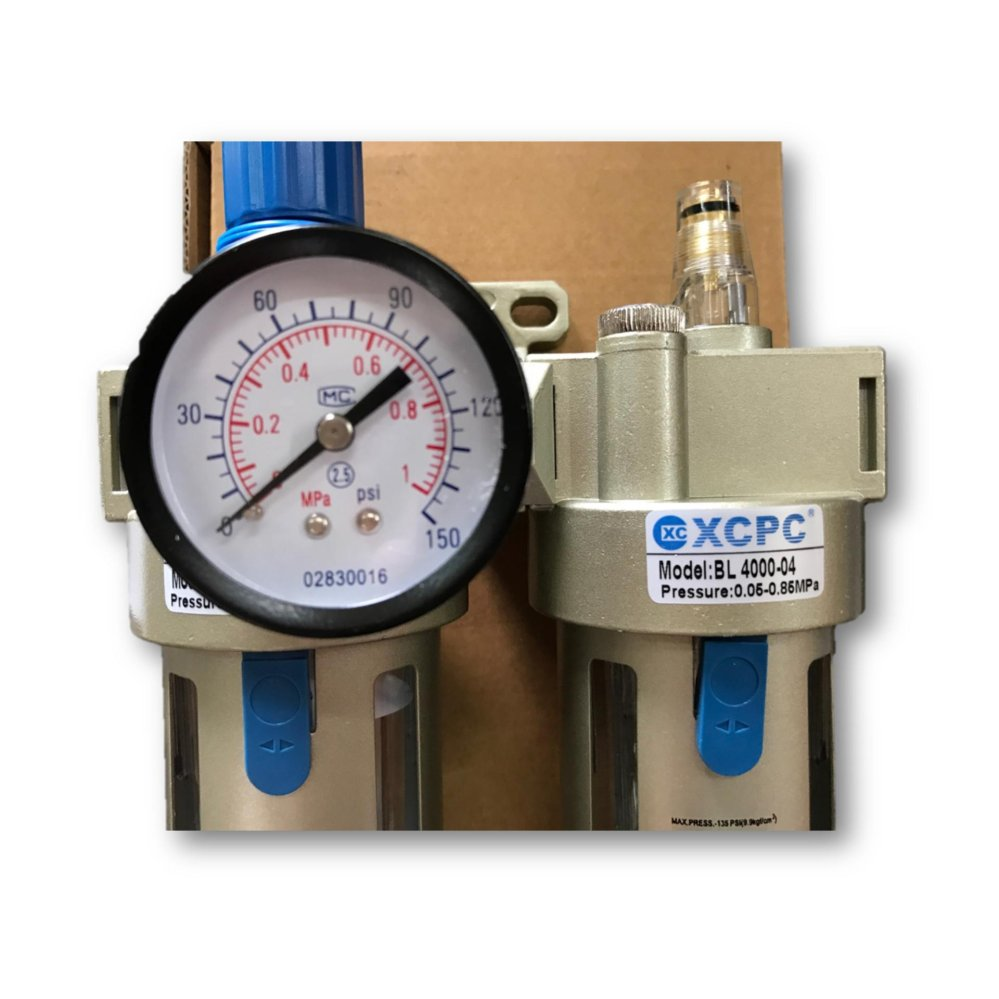 "XCPC BFC4000-04 8BAR 1/2"" Air Regulator Filter Water Trap Oiler Lubricator 3 n 1 Gauge Compressor Pressure (Ita"