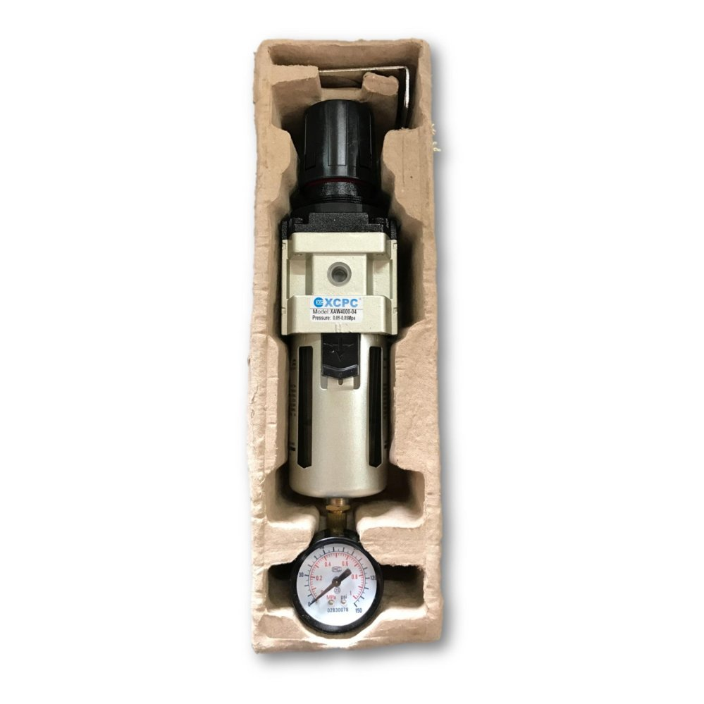 "XCPC XAW4000-04 8BAR 1/2"" Air Regulator Filter Water Trap 2 n 1 Gauge Compressor Pressure (Italy)"