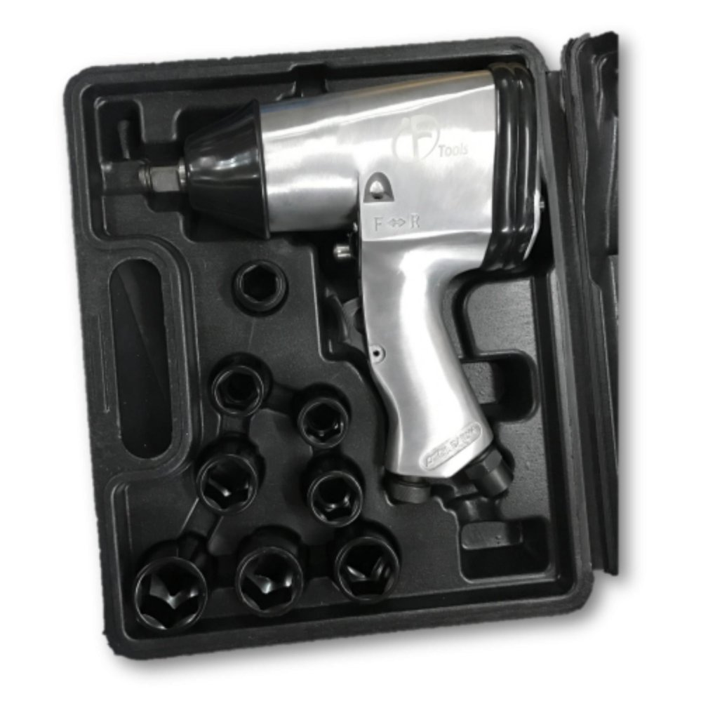 "F-Tool F-312 1/2"" 312Nm Impact Wrench c/w Impact Socket Set"