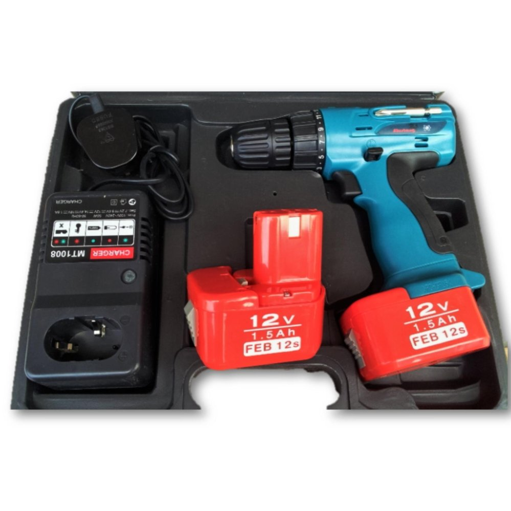 Mustang 12V Nickel Type Cordless Drill c/w 2 battery pack