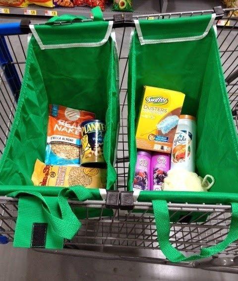 Mytools 2 Pcs Grab Bag with Built-in Cart Grab Clips Set (Green)