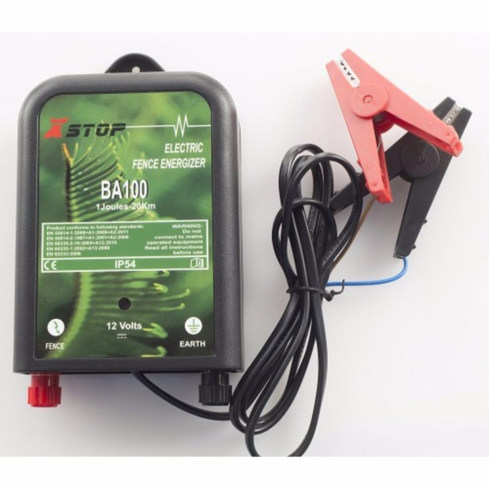 X Stop BA100 DC 12V Electric Fence Energizer 20km / 1.2 J (New Zealand)