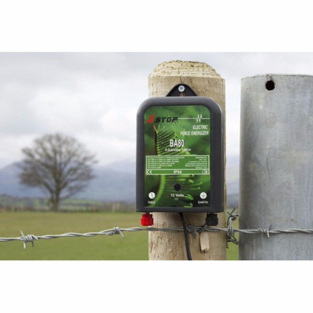 X Stop BA80 DC 12V Electric Fence Energizer 10km / 0.6 J (New Zealand)