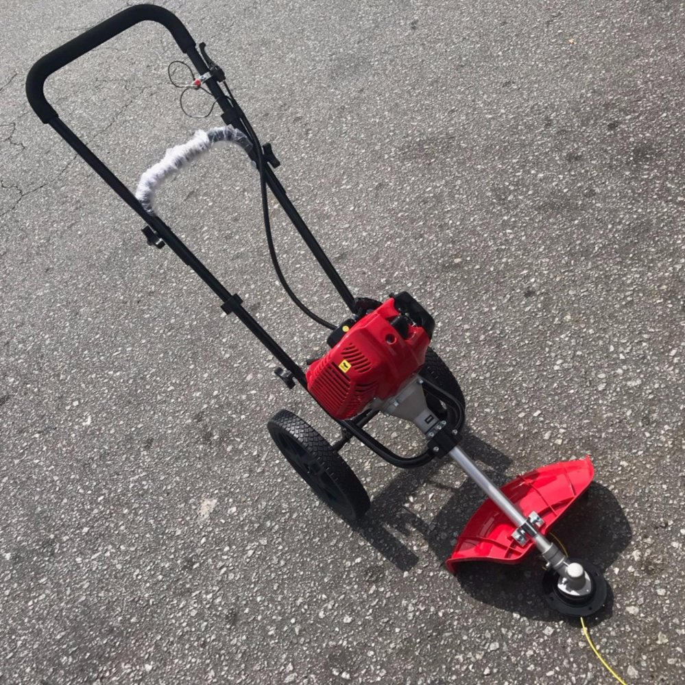 Giant Wheeled Hand Push Gasoline Brush Cutter Lawn Mower Mover (Made In Korea)