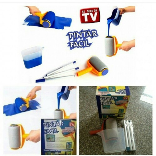 Pintar Facil Household Paint Roller Multifunctional Long Handle Paint Brush Tv Products