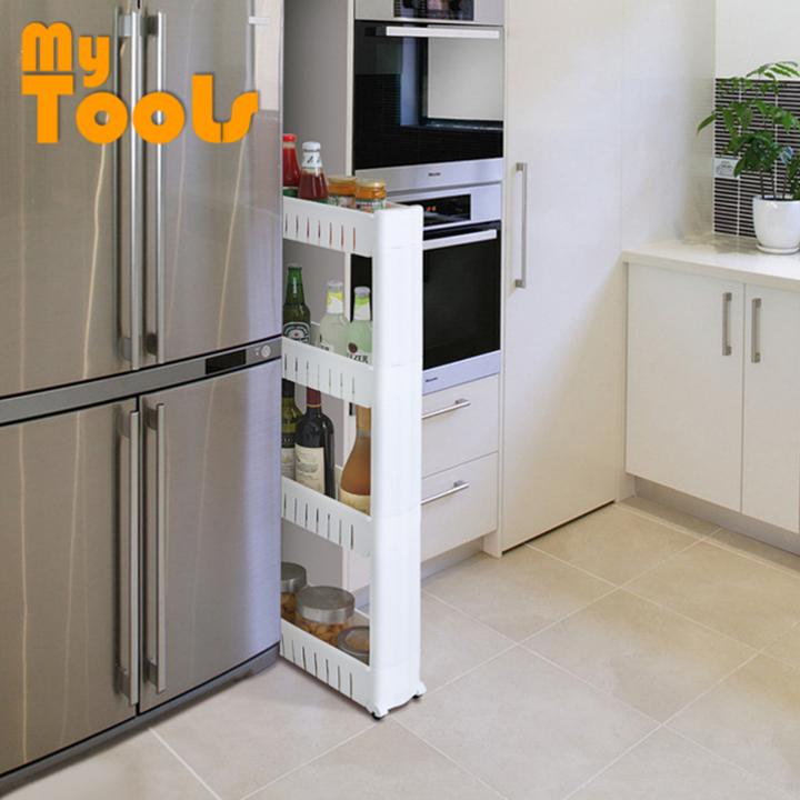 Mytools 4 Tiers Space Saver Slim Slide Storage Kitchen Rack