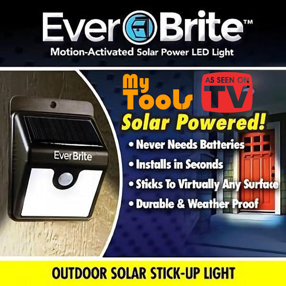 Mytools EverBrite Outdoor Safety Solar Charged Ever Brite Motion Activated LED Light
