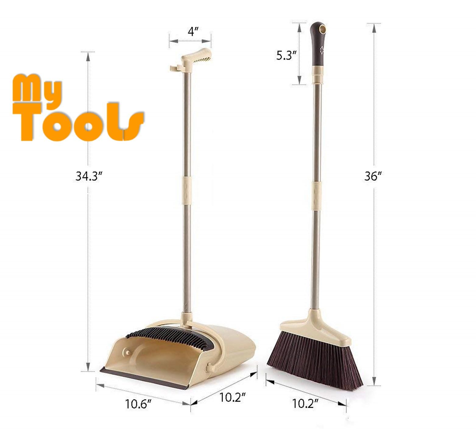 Mytools Windproof Broom And Dustpan Set Combination Soft Bristles Broom