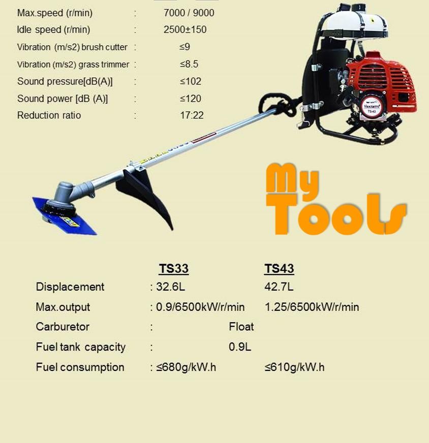 Mytools TB-43 43CC Backpack Brush Cutter (Mesin Rumput)
